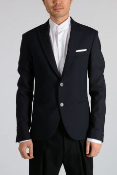 Virgin Wool Blend Blazer