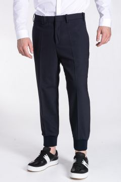 Pantaloni in Lana Vergine Stretch