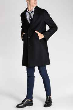 Cappotto SLIM FIT in Misto Lana