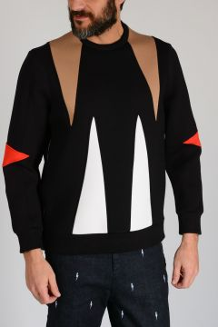 Neoprene GEOMETRIC INLAY Sweatshirt