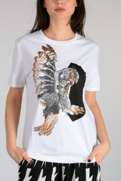 T-shirt MECHANICAL OWL Girocollo