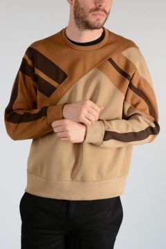 Neoprene GEOMETRIC PANELLED Sweatshirt
