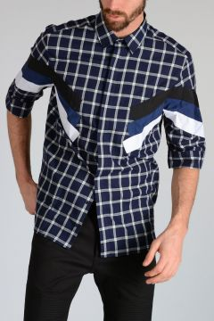 Camicia GEOMETRIC INLAY a Quadri