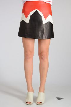 Leather ABSTRACT Miniskirt
