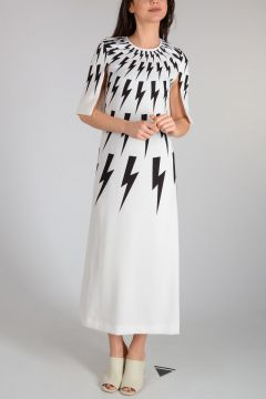 Maxi Printed  THUNDERBOLT Dress