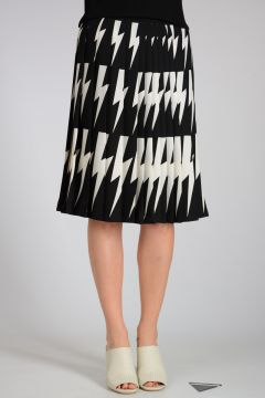 Pleated THUNDERBOLT Skirt