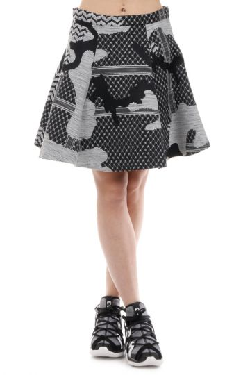 Patterned Trapeze Skirt