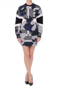 Patterned MASCULINE FIT Sweatshirt in Cotton Blend