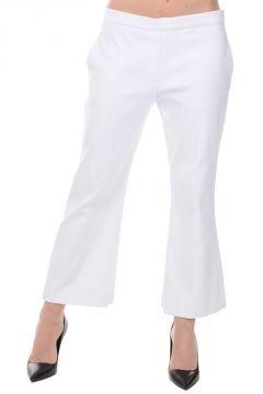 Pantaloni Crop in Cotone Stretch