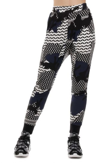 Patterned Stretch Pants