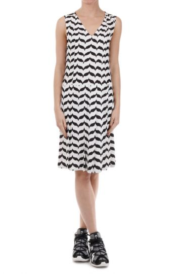 Geometric Patterned A-line Dress