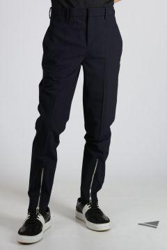 Pantaloni in Misto Lana Vergine Stretch