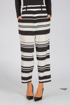 Pantalone Cropped in Seta Stretch
