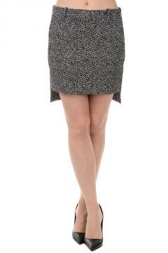 Stretch Cotton Asymmetric Cut Skirt