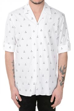 Camicia Stampata a Maniche Corte