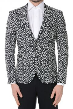 Printed Single Breasted Blazer