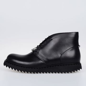 Leather PIERCED PUNK Derby Boots
