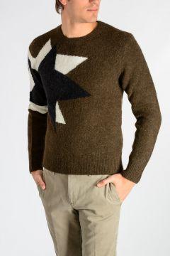 Intarsia Alpaca Blend Sweater