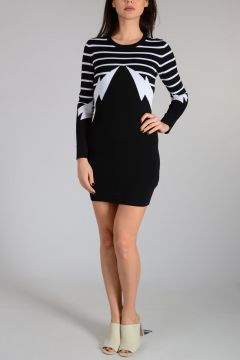 Knitted THUNDERBOLT STRIPE Dress
