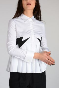 Pleated THUNDERBOLT Shirt