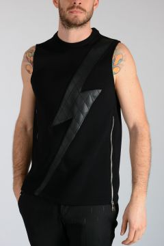 Neoprene THUNDERBOLT Sleeveless Sweatshirt