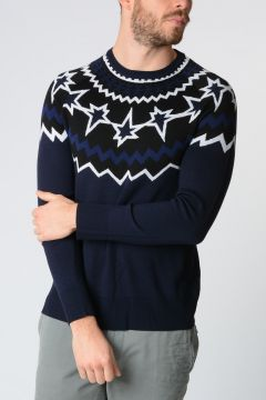 Merino Wool FAIR ISLE POP ART Sweater