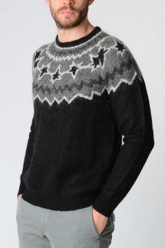 Mohair Blend FAIR ISLE POP ART Sweater