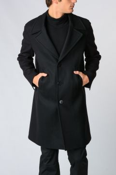 Cappotto SLIM FIT in misto Lana Vergine