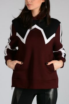 Hooded ABSTRACT Sweatshirt