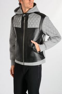 Leather & Neoprene SKINNY FIT Jacket