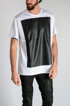 T-shirt BLACK PANEL in Jersey