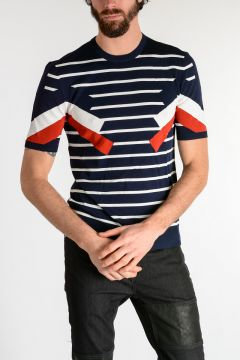 GEOMETRIC STRIPED Sweater