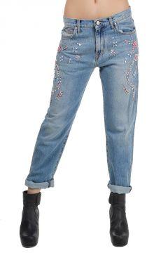 Jeans con Applicazioni Gioiello
