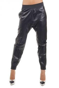 Pantalone in pelle 14 cm