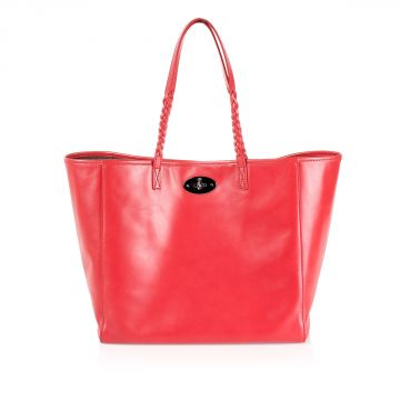 "Leather ""Dorset tote"" shopping Bag"