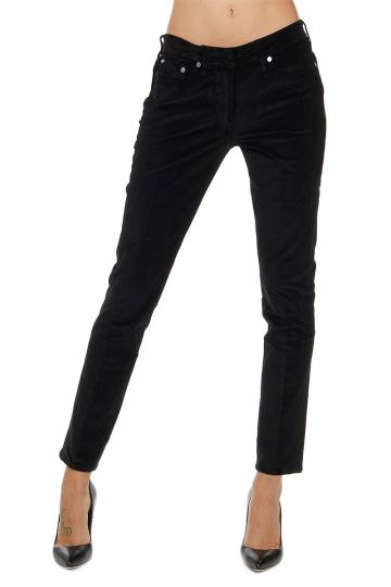 Velvet Skinny Fit Trousers