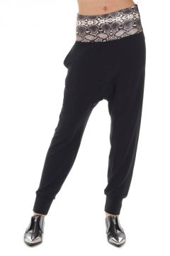 Pantalone LOOSE TRACKPANT FIT con inserto in pelle