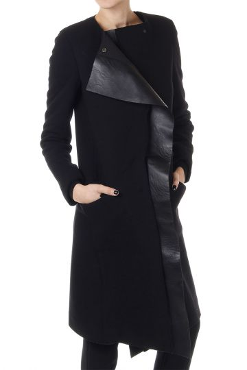 Asymmetric Cut Coat