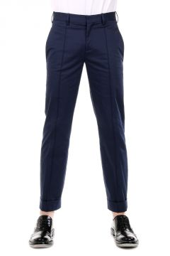 Pantaloni Capri Slim Fit in Cotone Stretch