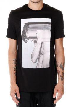T-shirt in cotone Jersey con Stampa corpo Uomo
