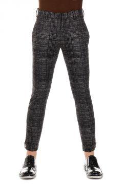 Pantaloni Skinny Fit in Misto Lana Vergine