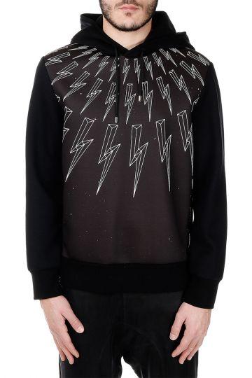 Hooded Sweatshirt Bolt Printed