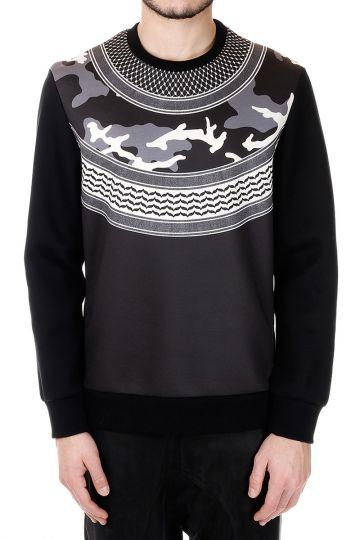 Neoprene Printed Round Neck Sweatshirt