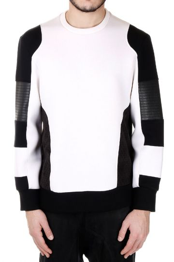 Neoprene Round Neck Sweatshirt