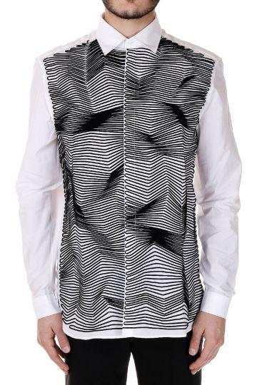 Camicia in popeline di Cotone Ricamata
