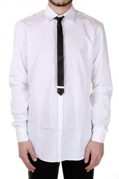 Camicia in popeline di Cotone Con Cravatta