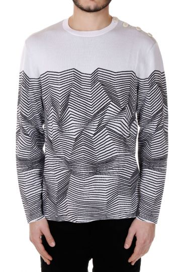 Striped Printed Round neck Sweater