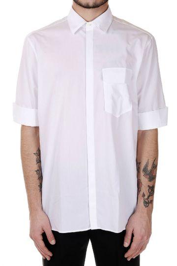 Camicia in popeline di Cotone A Maniche Corte