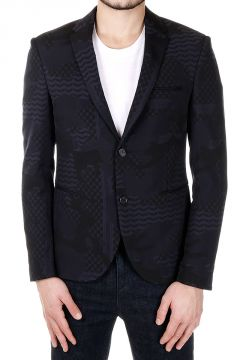 Cotton blend Single Breasted Blazer