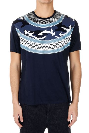 T-shirt Stampata in Jersey di Cotone